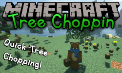 Tree Choppin mod for minecraft logo