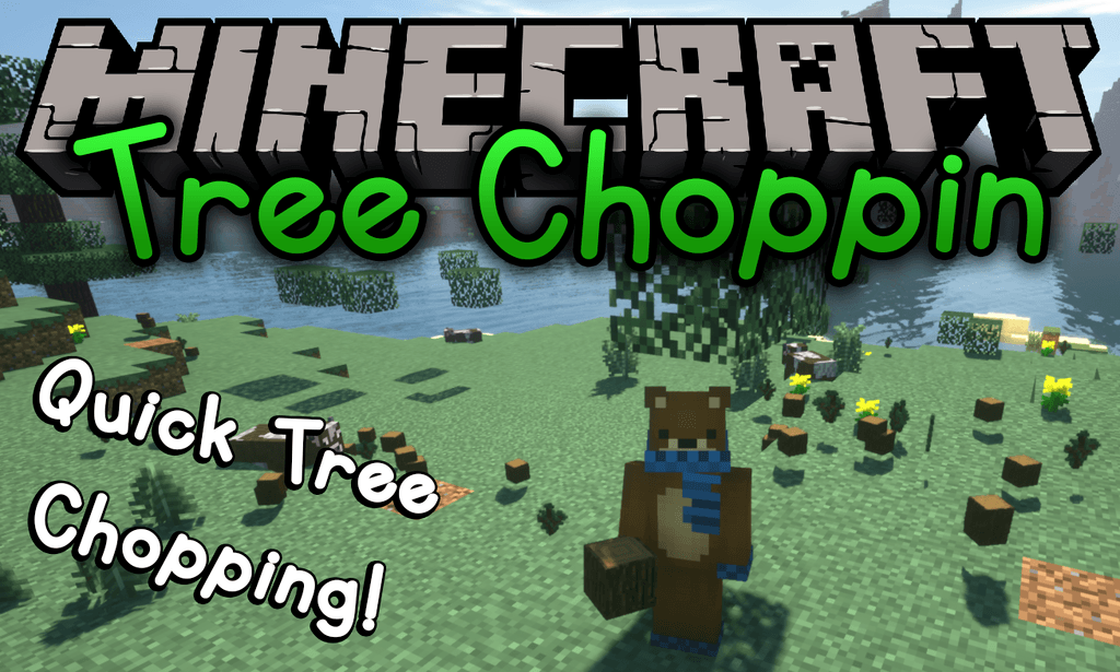 Tree Choppin mod for minecraft logo