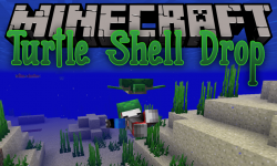 Turtle Shell Drop mod for minecraft logo