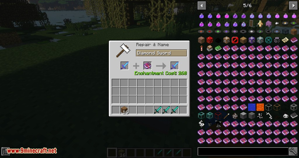Anvil Fix mod for minecraft 02