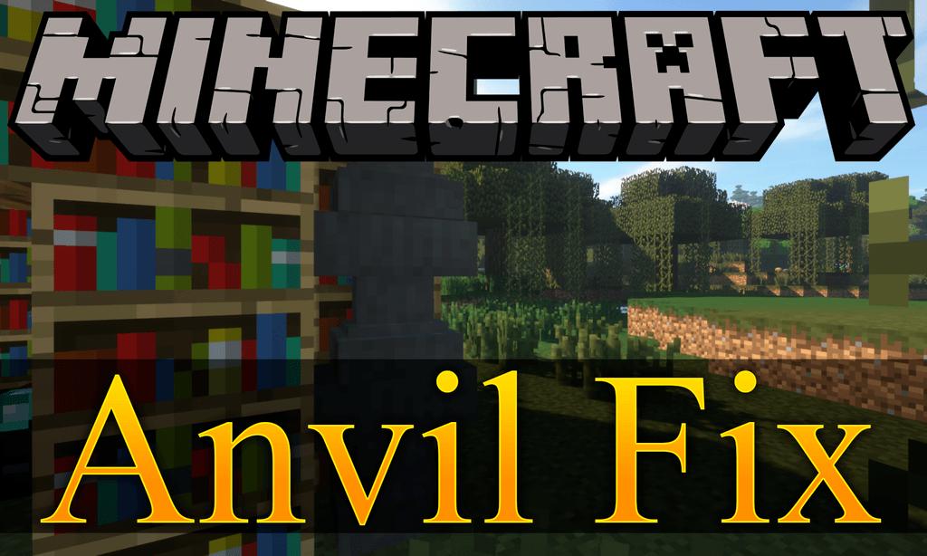 Anvil Fix mod for minecraft logo