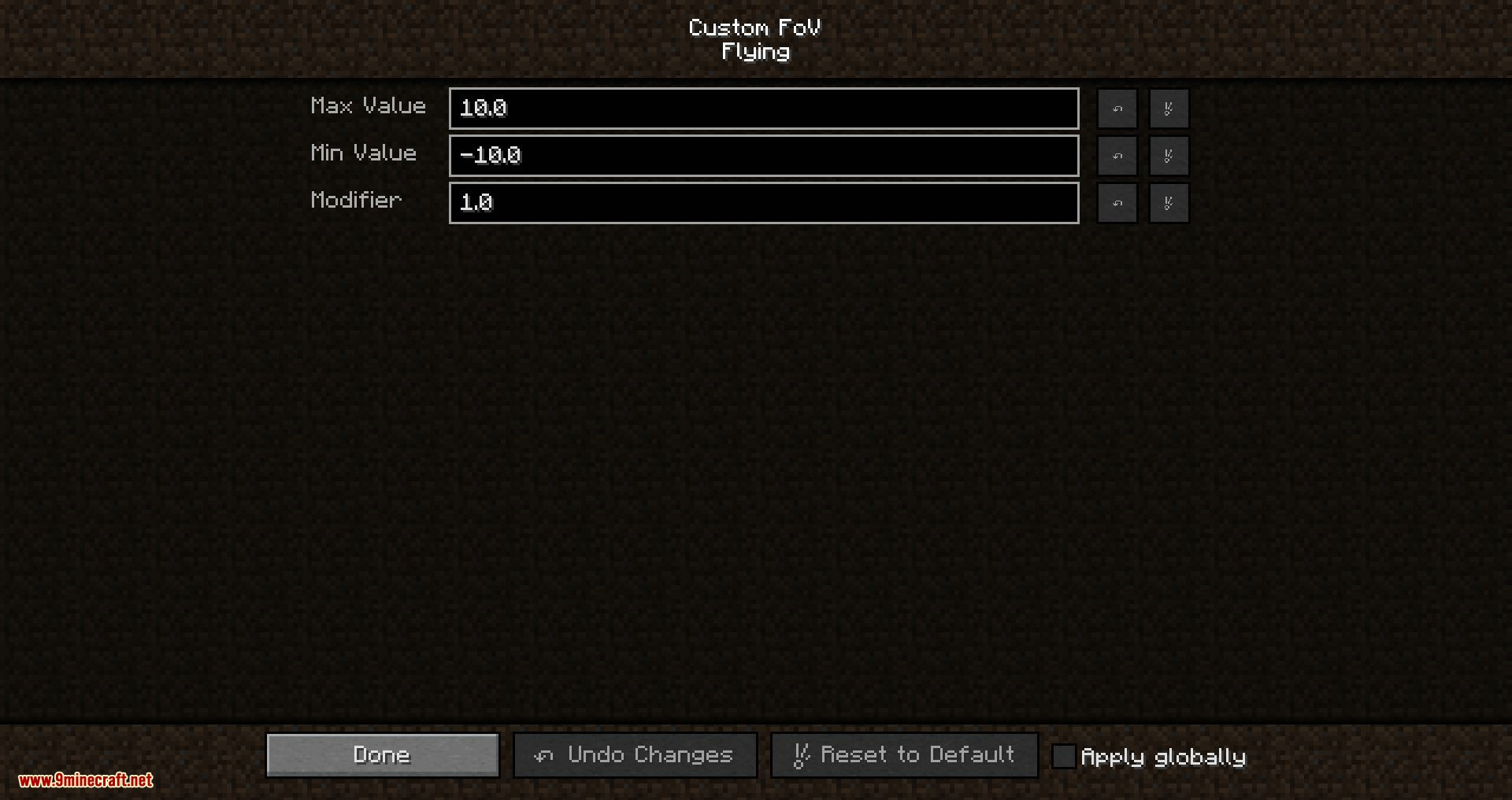Custom FOV mod for minecraft 05