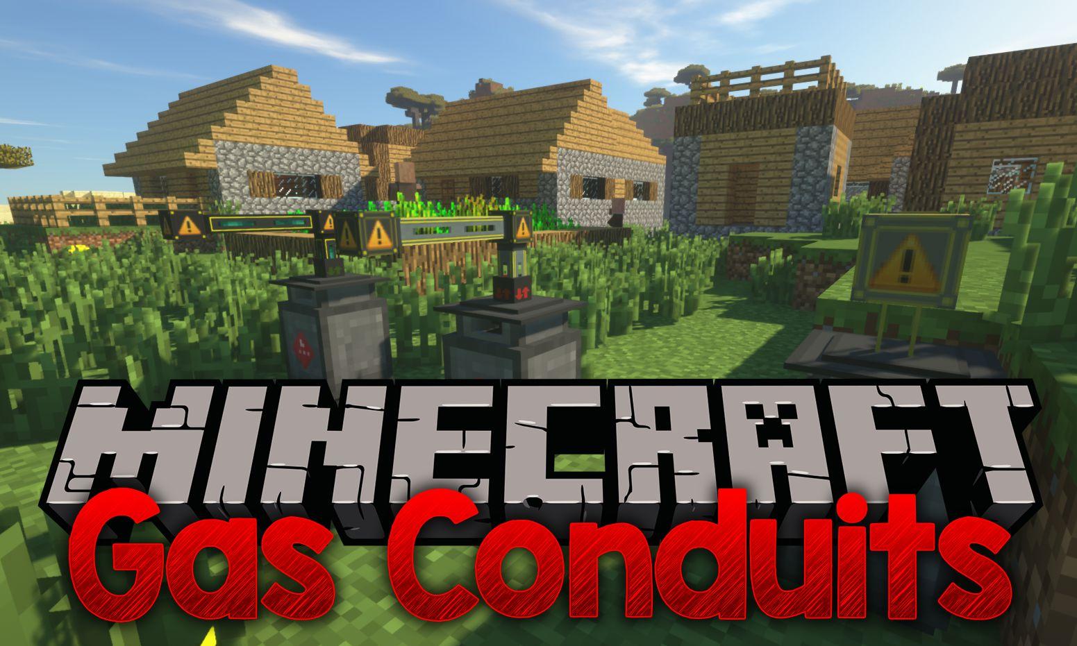 Gas Conduits mod for minecraft logo