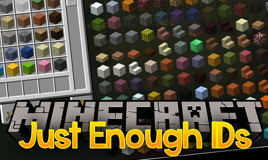 Just Enough IDs mod for minecraft logo
