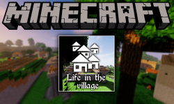 Life in the village mod for minecraft logo