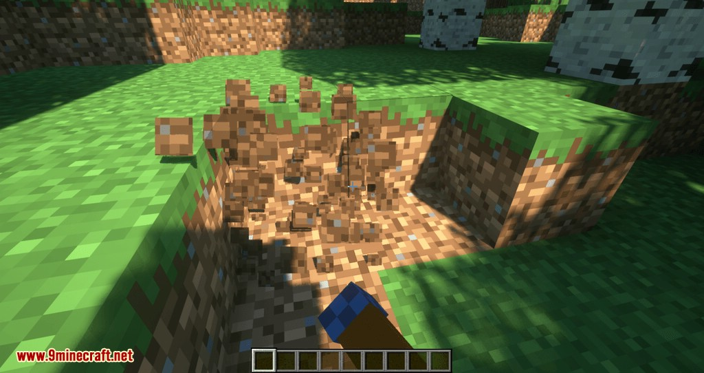 Proportional Destruction Particles mod for minecraft 01