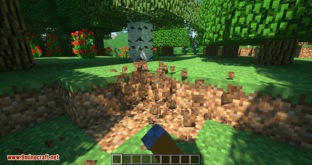 Proportional Destruction Particles mod for minecraft 02