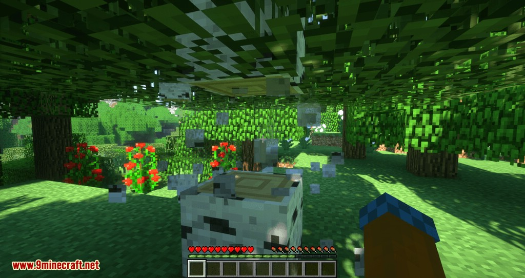 Proportional Destruction Particles mod for minecraft 04