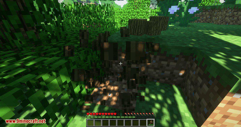Proportional Destruction Particles mod for minecraft 06