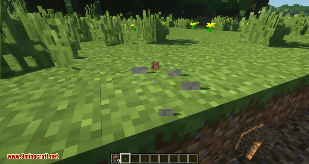 Proportional Destruction Particles mod for minecraft 08