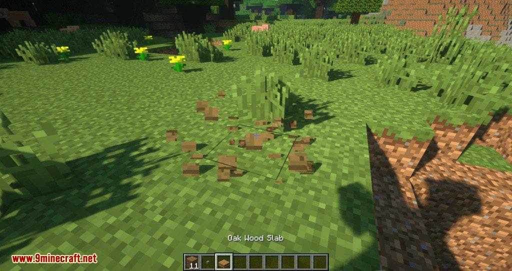 Proportional Destruction Particles mod for minecraft 09