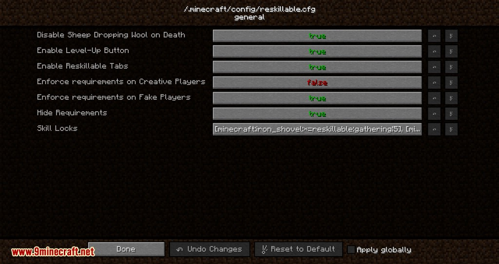 Reskillable mod for minecraft 13