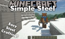 Simple Steel mod for minecraft logo