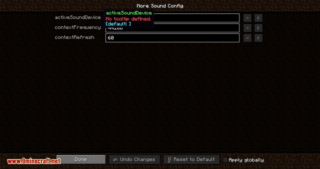 Sound Device Options mod for minecraft 03