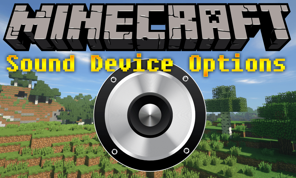 Sound Device Options mod for minecraft logo