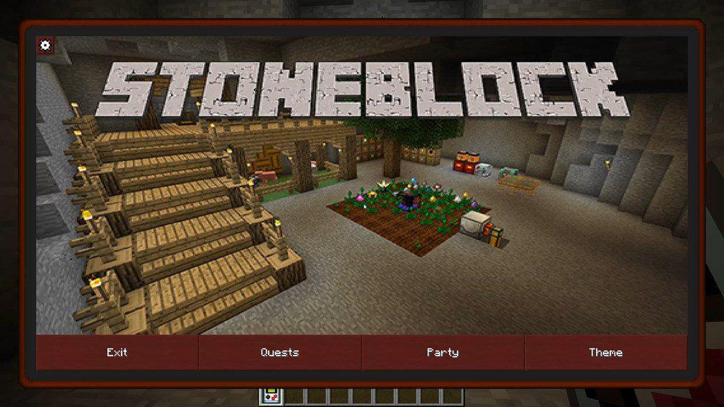 StoneBlock mod for minecraft 01