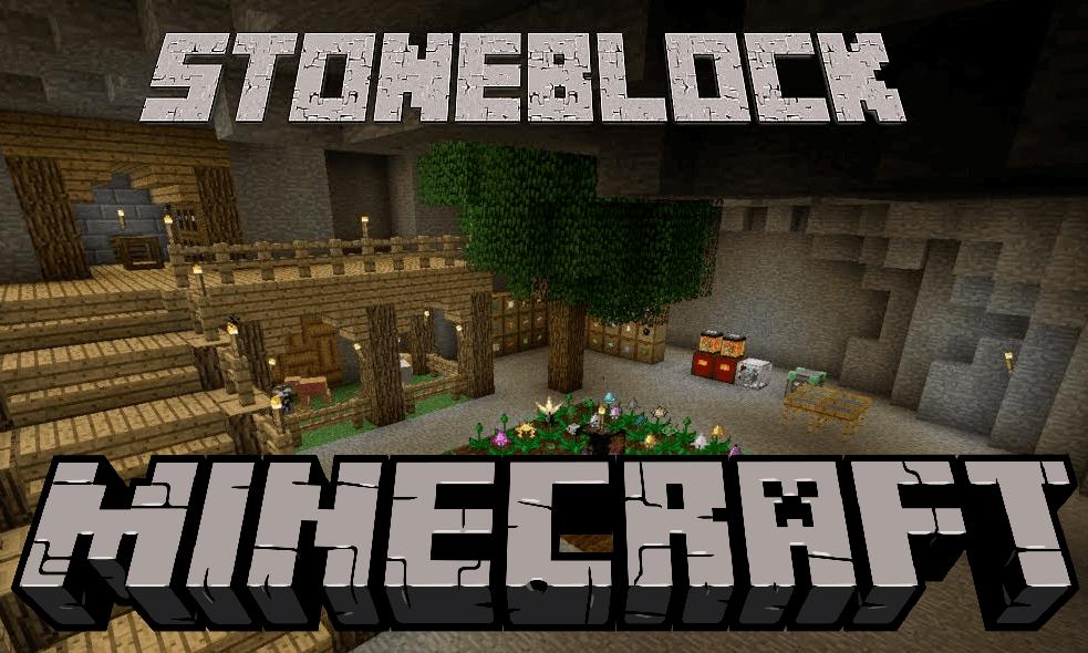 StoneBlock mod for minecraft logo
