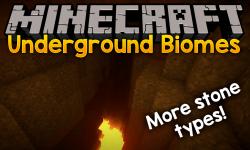 Underground Biomes mod for minecraft logo