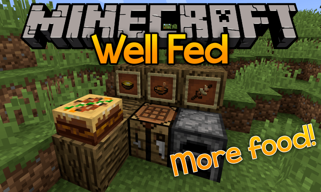 Well Fed mod for minecraft logo