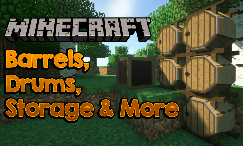 Barrels, Drums, Storage _ More mod for minecraft logo