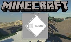 BlockOut mod for minecraft logo