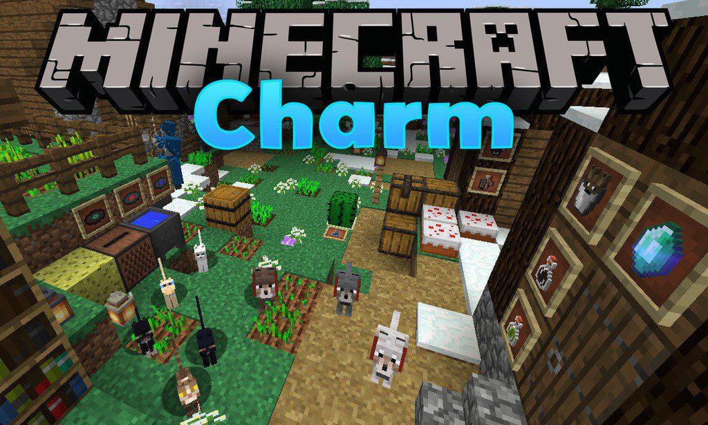 Charm mod for minecraft logo