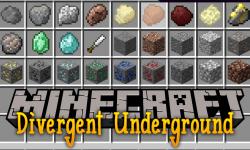 Divergent Underground mod for minecraft logo