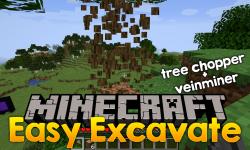 Easy Excavate mod for minecraft logo