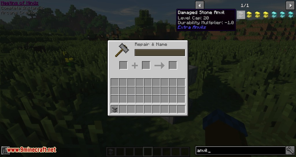Extra Anvils mod for minecraft 02
