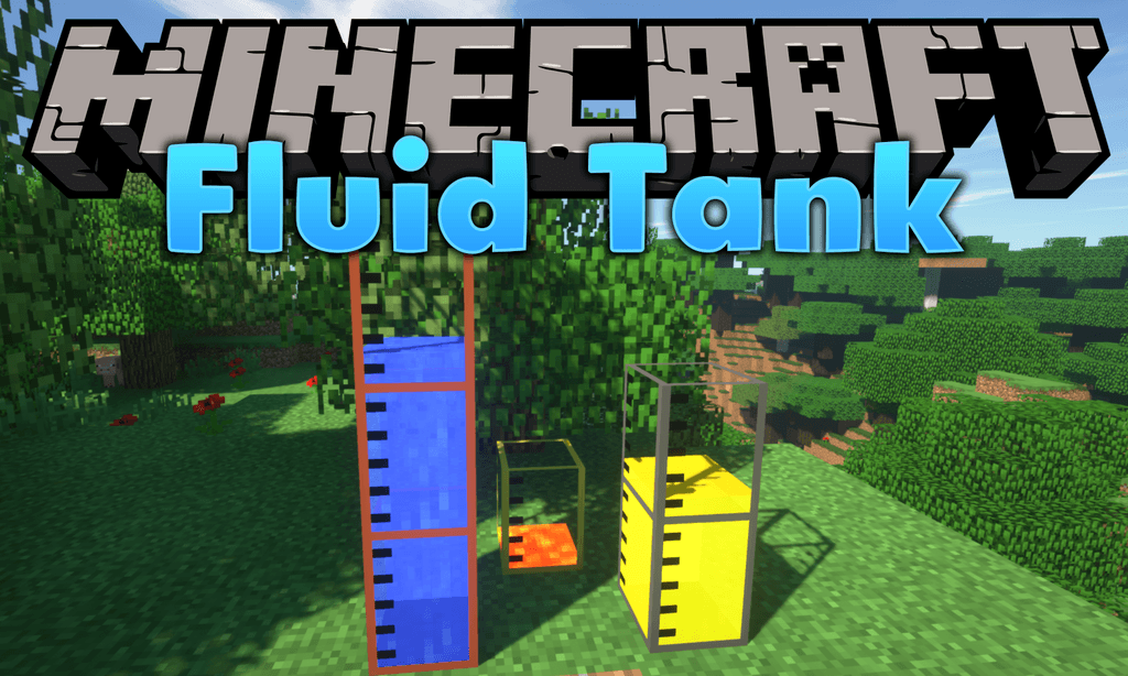 Large Fluid Tank mod for minecraft logo