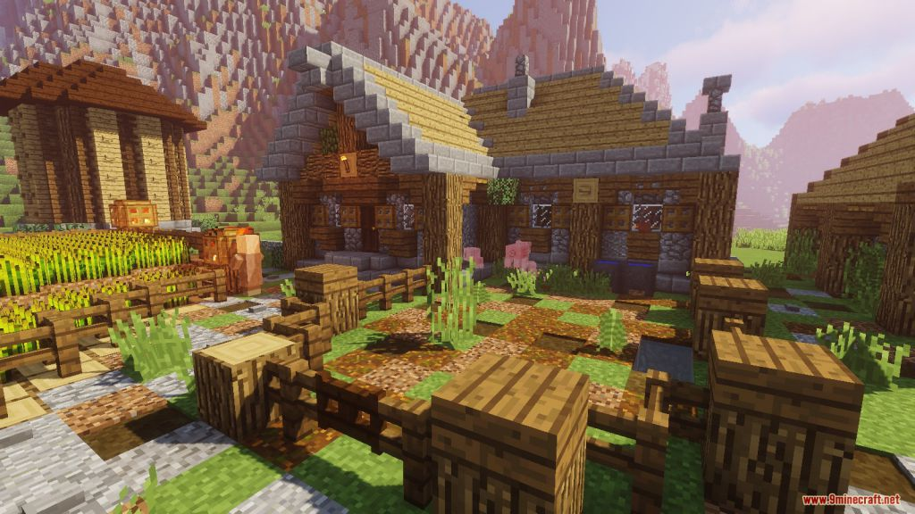 Medieval Village with Castle Map Screenshots (12)