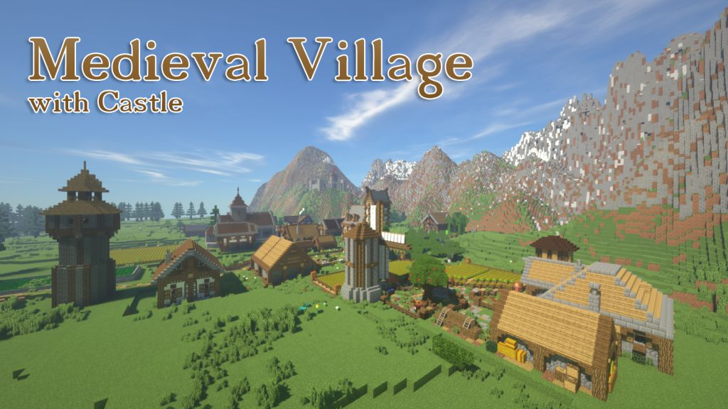 Medieval Village with Castle Map Thumbnail