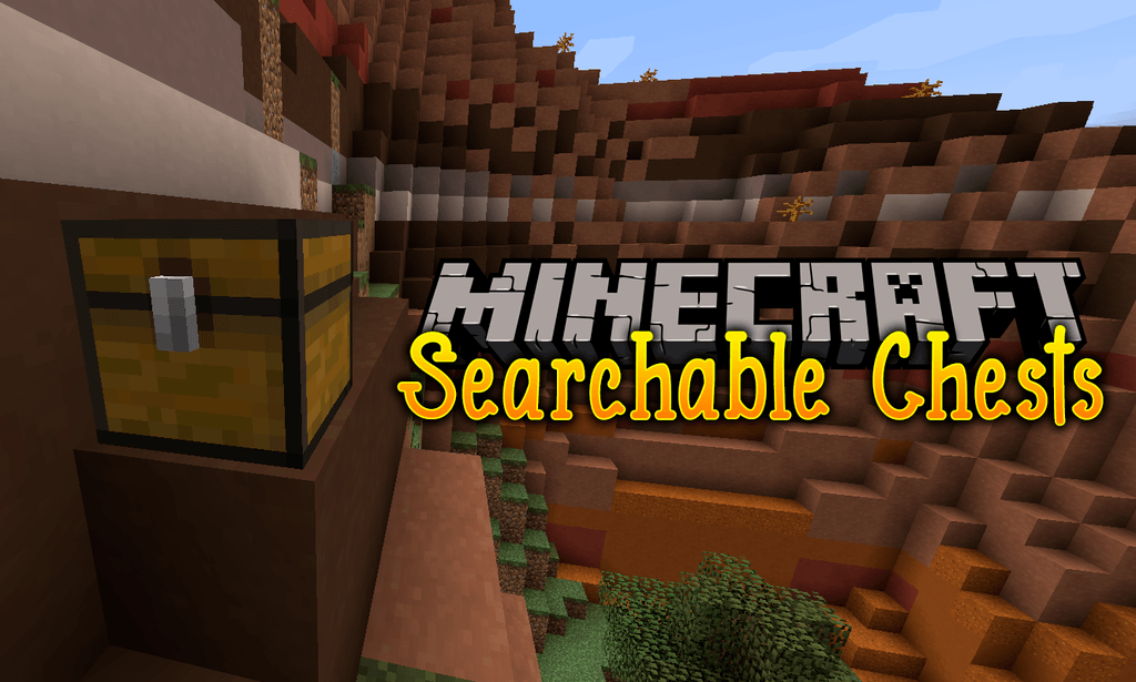 Searchable Chests mod for minecraft logo