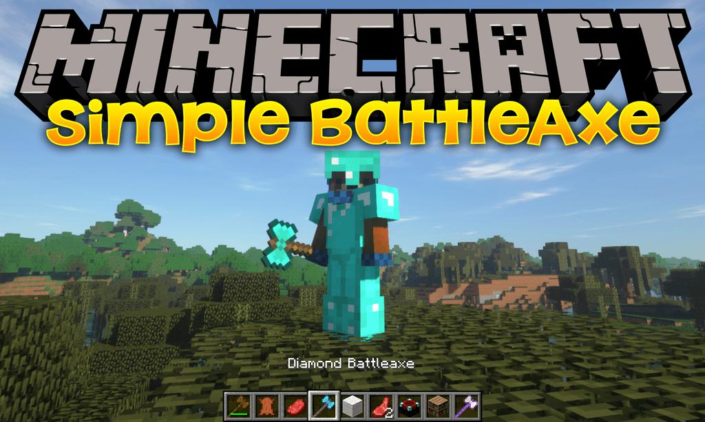 Simple Battleaxe mod for minecraft logo
