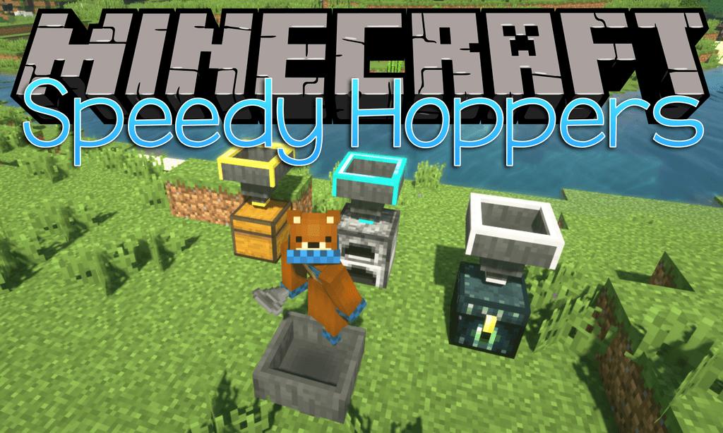 Speedy Hoppers mod for minecraft logo