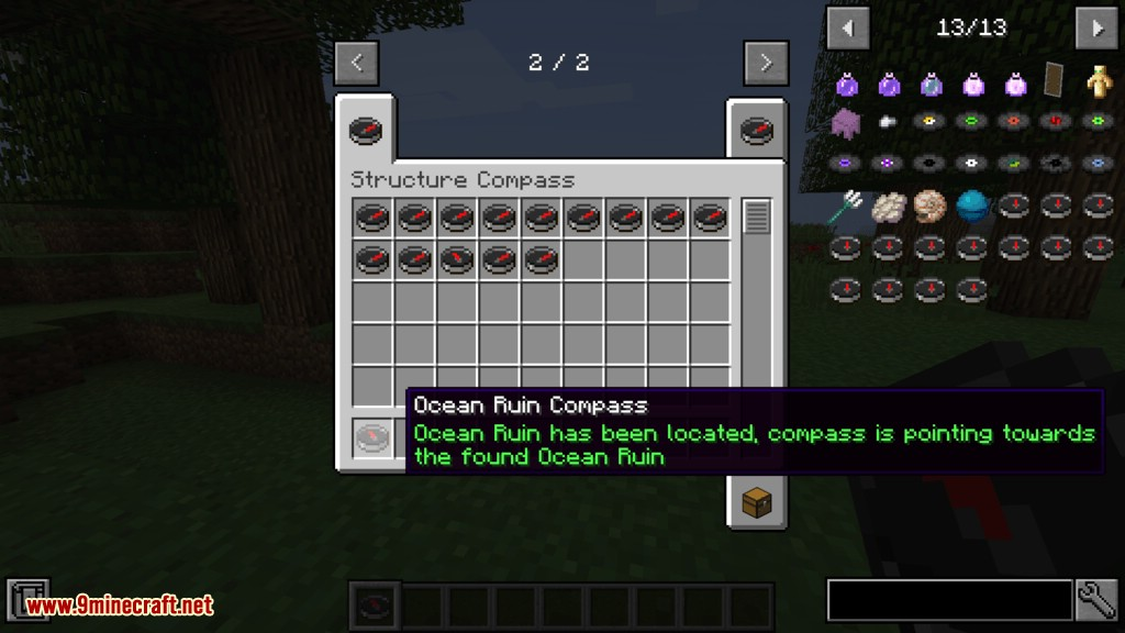 Structure Compass mod for minecraft 10