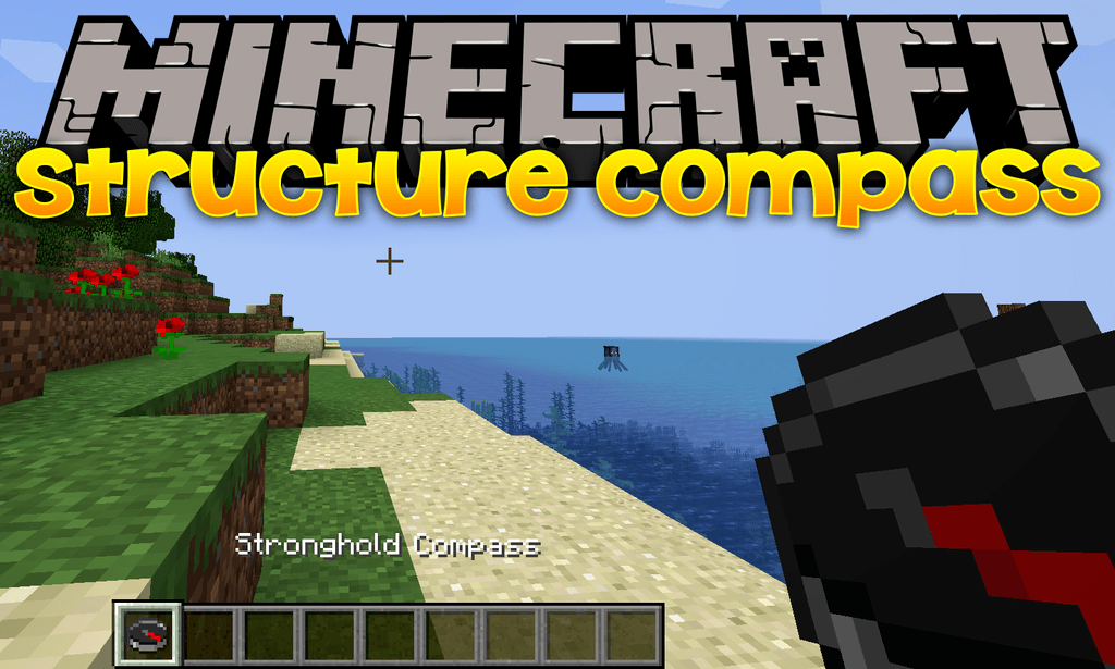 Structure Compass mod for minecraft logo