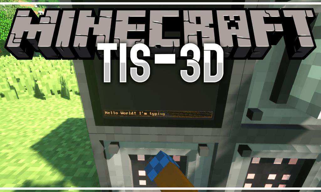 TIS-3D mod for minecraft logo