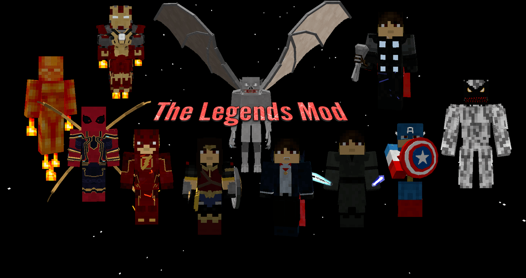 The Legends Mod 1.7.10 (Superheroes Unlimited, Kaiju, Horror ...