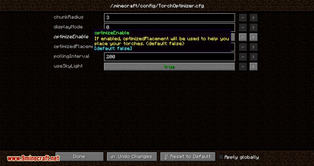 Torch Optimizer mod for minecraft 09