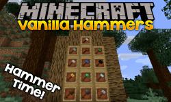 Vanilla Hammers mod for minecraft logo