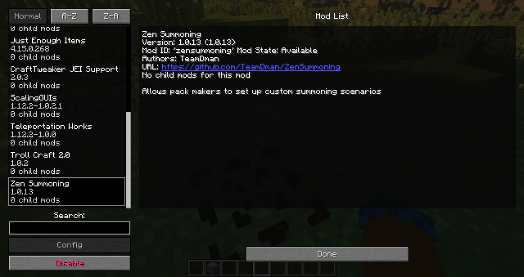 Zen Summoning mod for minecraft 09
