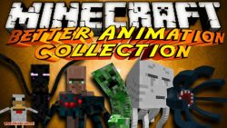 Better Animations Collection 2 mod for minecraft logo