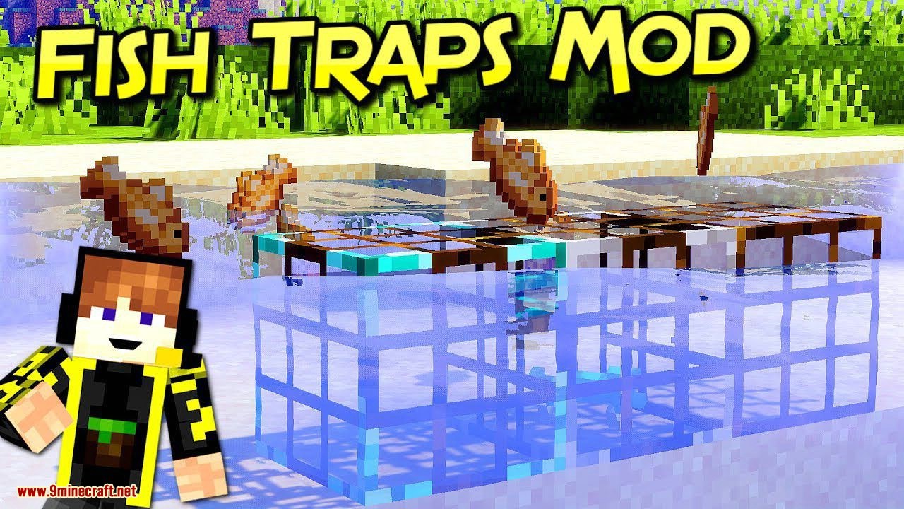 Fish Traps mod for minecraft logo