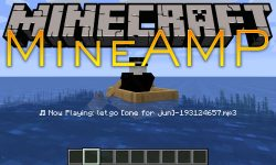 MineAMP mod for minecraft logo
