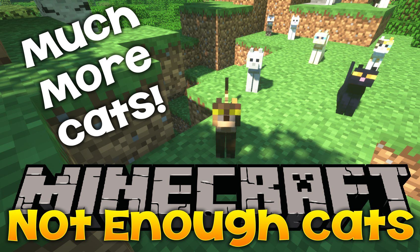 Not Enough Cats mod for minecraft logo
