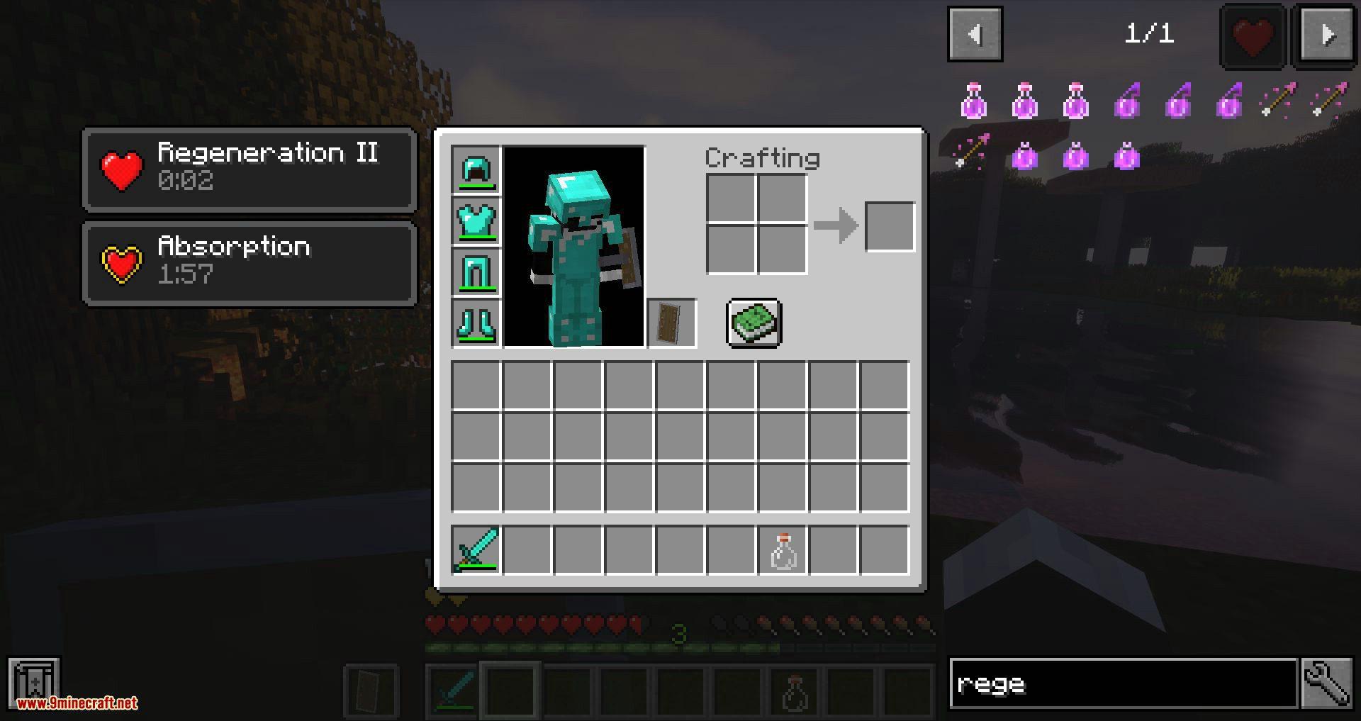 Regen Control mod for minecraft 10