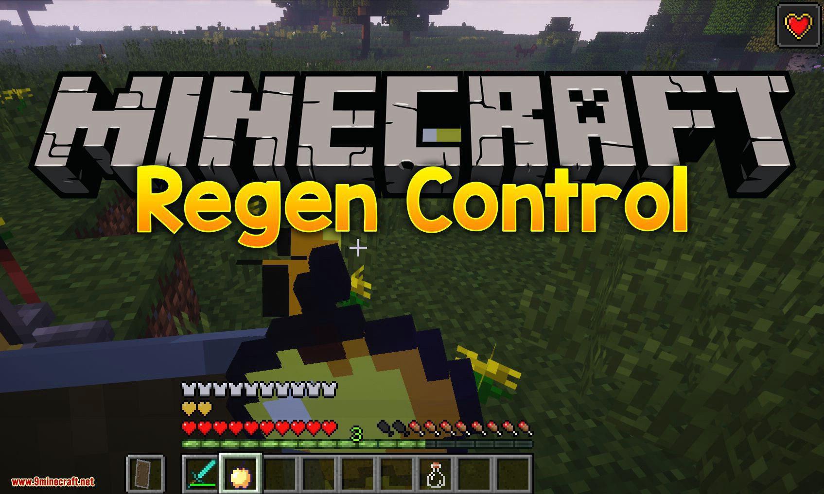 Regen Control mod for minecraft logo