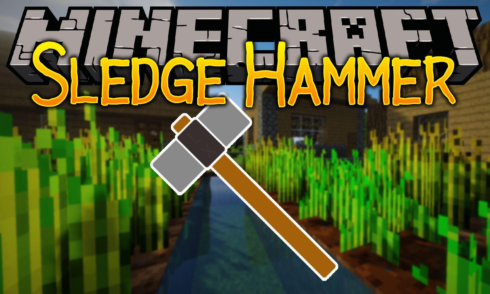 Sledgehammer mod for minecraft logo