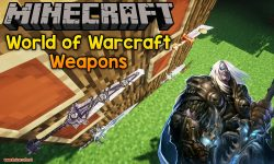 World of Warcraft Weapons mod for minecraft logo